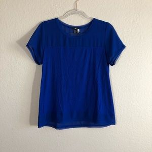 3 for $20. H&M royal blue blouse